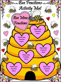 Valentine's Day Math Activities: Bee Fractions Valentine's Day Math Activity