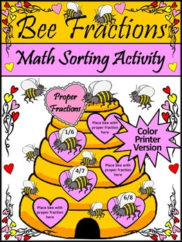 Valentine's Day Math Activities: Bee Fractions Valentine's Day Math Activity