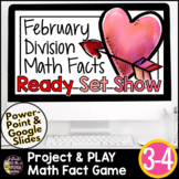 Valentine Math 3rd 4th Grade Division Facts | Division Game Division Activities
