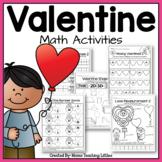 Valentine Math Activities - No Prep - Just Print