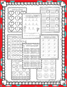 Valentine Math Activities Sampler