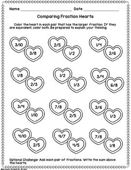 Valentine Math Activities and Centers