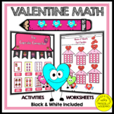 Valentine Math Activities and Worksheets | 3rd Grade Valen