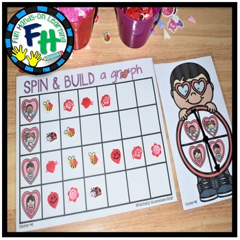 Valentine Math Activity Center: Build A Graph
