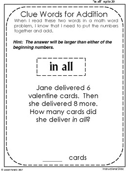 Valentine Addition Word Problem Booklets