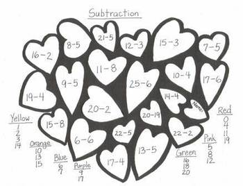 Kinder Valentine Math Art