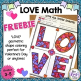 Math Art LOVE Activity Geometric Shapes Coloring Fun {Grad