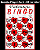 Valentine Math Bingo with interactive whiteboard option