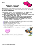 Valentine Math Box: A Math Homework Performance Task 3rd and 4th Grade