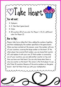Valentine Math Bump Games {Freebie}