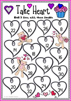 Valentine Math Bump Games
