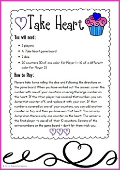 Valentine Math Bump Games {Freebie for the Younger Grades}