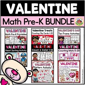 Valentine Math Center Activities for Preschool