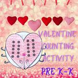 Valentine Math Center Counting Activity