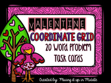 Valentine Math Center:  Coordinate Graph WORD PROBLEM Task Cards