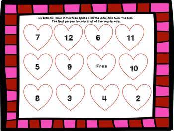 Valentine Math Center FREEBIE