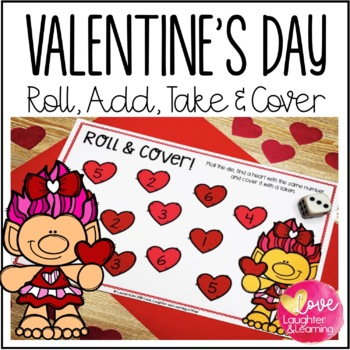 Valentine's Day Math Center {Roll & Cover}