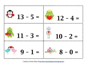 Valentine Math Centers  - Common Core