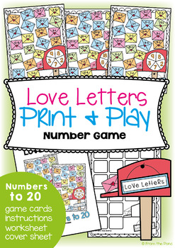 Valentine Math Centers - Numbers to 20 No Prep Games