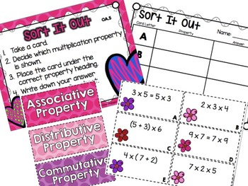 Multiplication and Division 3.OA Math Centers | February/Valentine's Day Themed