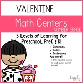 Valentine Math Centers: Number Sense Preschool, PreK, K & Homeschool
