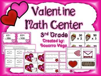 Valentine Math Centers: Third Grade!!
