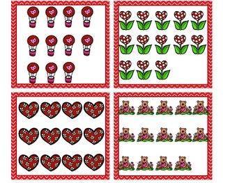 Valentine Math Centers for Kindergarten