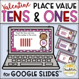 Valentines Day Math Place Value Tens and Ones Google Slides