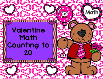 Valentine Math Counting to 20