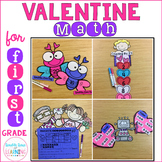 Valentine Math Craftivities: First Grade {Equations, Skip