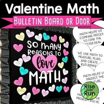 Valentine Math Door Decor or Bulletin Board