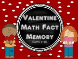 Valentine Math Fact Memory Game