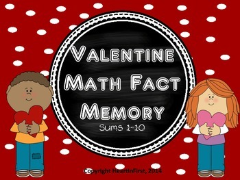 Valentine Math Fact Memory Game