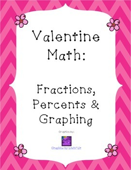 Valentine Math-- Fractions, Percents, Graphing