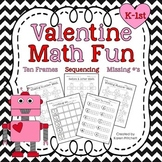 Valentine Math Fun - sequencing, missing number, counting