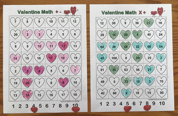 Valentine Math Game