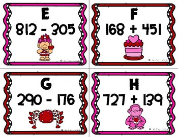 Valentine Math Game:  Addition and Subtraction SCOOT