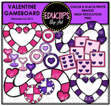 Valentine Game Board Clip Art Bundle {Educlips Clipart}
