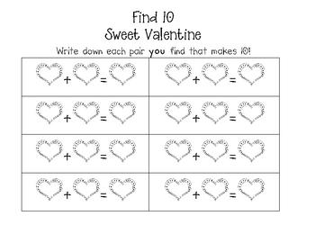 Valentine Math Game Fun