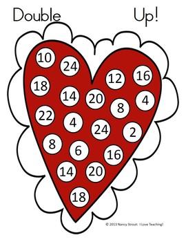 Valentine Math Dice Games!