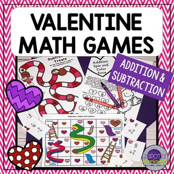 Valentine Math Games: Addition & Subtraction