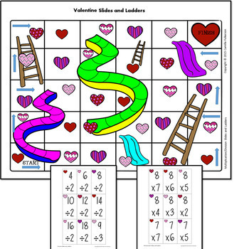Valentine Math Games: Multiplication & Division Facts