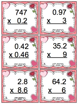 valentine 39 s day math 5th grade by math mojo teachers pay teachers. Black Bedroom Furniture Sets. Home Design Ideas
