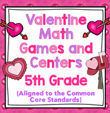 5th Grade Valentine's Day Math - 5th Grade Math Games and Centers