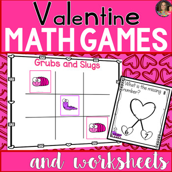 Valentine Math Games and Worksheets