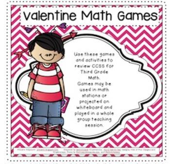 Valentine Math Games for Third Grade