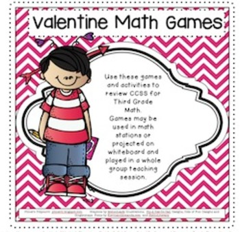 Valentine Math Games for Third Grade