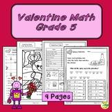 Valentine Math Grade 5