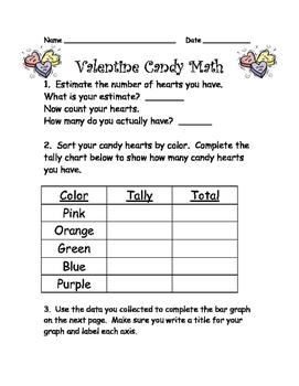 Valentine Math Graphing Pack