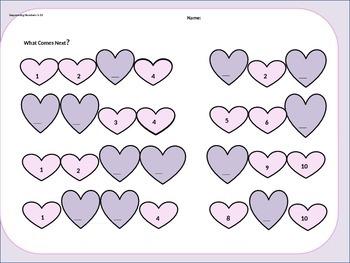 Valentine Math Kindergarten  February Fun